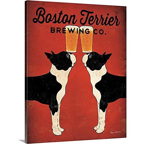 "Ryan Fowler Premium Thick-Wrap Canvas Wall Art Print entitled Boston Terrier Brewing Co 11""x14"""