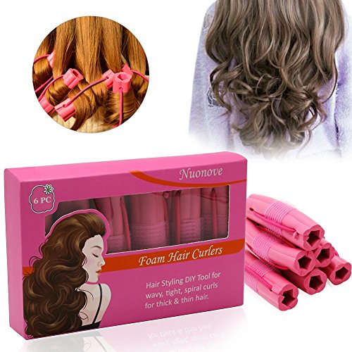 Foam and Sponge Hair Curlers, Hair Styling DIY Tool, Best Flexible foam and sponge hair curlers For wavy, tight, spiral curls for thick & thin hair (1Pack)