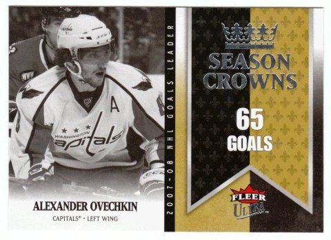 (Alexander Ovechkin (Hockey Card) 2008-09 Fleer Ultra Season Crowns # SC 1)