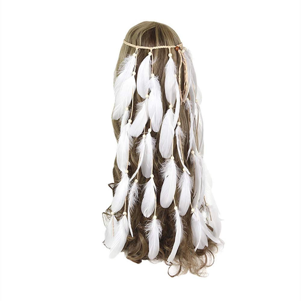 White Feather Headband...