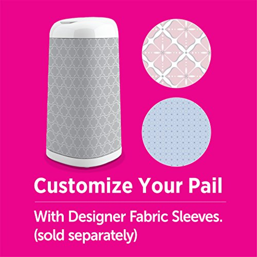 Large Product Image of Playtex Diaper Genie Expressions Customizable Diaper Pail with Starter Refill