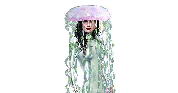 Amazon.com: Disfraz iluminado de medusa tornasolado para ...