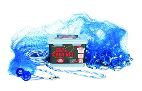 Fitec SS100-L Super Spreader Cast Net Blue 5' Radius, 3/8