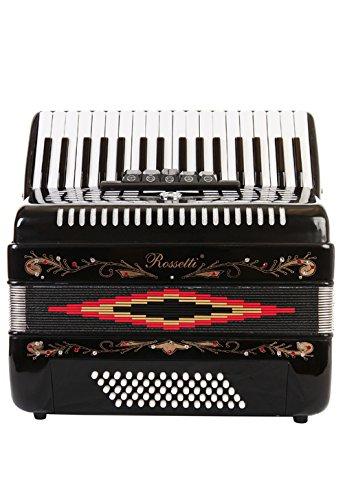 Rossetti Piano Accordion 60 Bass 34 Keys 5 Switches Black by Rossetti