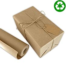 """#1 Eco Kraft Wrapping Paper Roll, Large 30"""" x 1200"""" (100ft), MADE IN THE USA from 100% Recycled Material"""