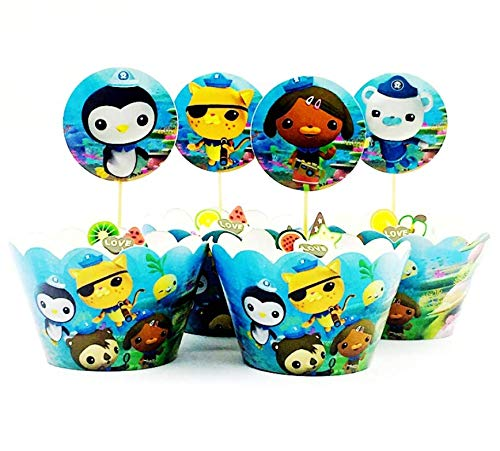 Astra Gourmet 24pc Octonauts Cupcake Wrappers and Toppers