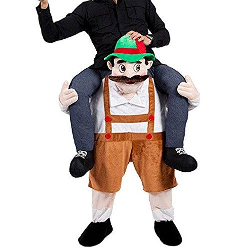 Halloween Carry Mascot Me Guy Ride On Beer Oktoberfest Costume Ride on Costume]()