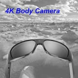 OHO 4K Ultra HD Waterproof Video Sunglasses, Sports Action Camera with Built-in 32GB Memory and Polarized UV400 Protection Safety Lenses,Unisex Sport Design