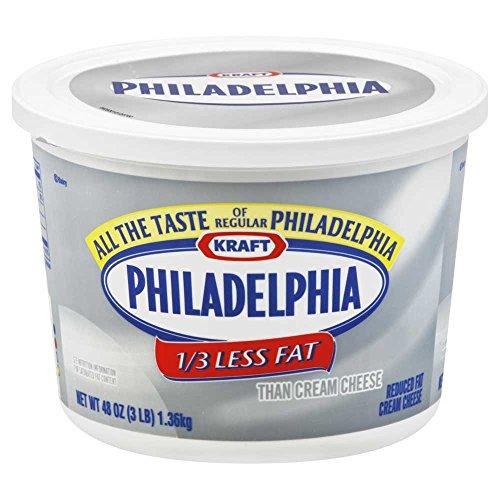 Kraft Philadelphia Light Cream Cheese - Tub, 3 Pound -- 6 per case. by Philadelphia (Image #4)