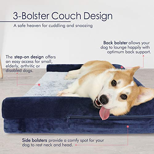 Amazon.com: Dog Bed Orthopedic Pet Bed 36x27 inches - Lounge ...