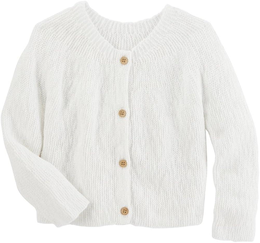 White OshKosh BGosh/© Toddler Girl Knit Cardigan Sweater