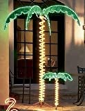 ROMAN 161833 7' Tropical Holographic Rope Light Outdoor Palm Tree Yard Decoration