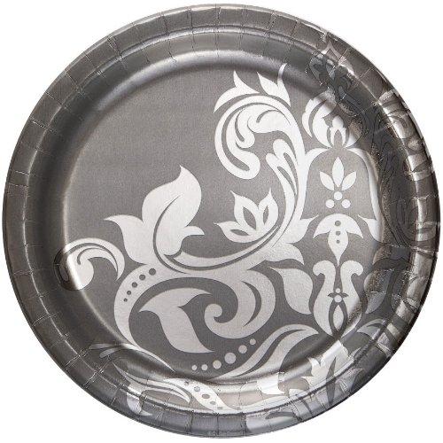 Silver 25th Anniversary Paper Plates 18 Per Pack Ebay