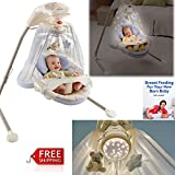 Baby Swing Chair Infant Best Cute Newborn Boy Or Girl With Lights Bright Stars For Modern Babies And eBook By NAKSHOP