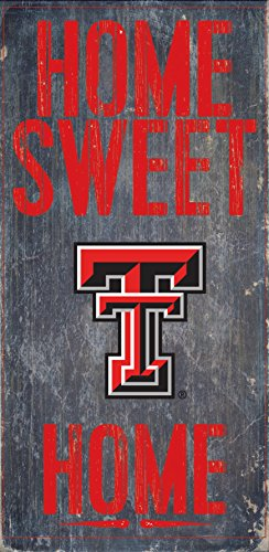 - Texas Tech Red Raiders Wood Sign - Home Sweet Home 6x12