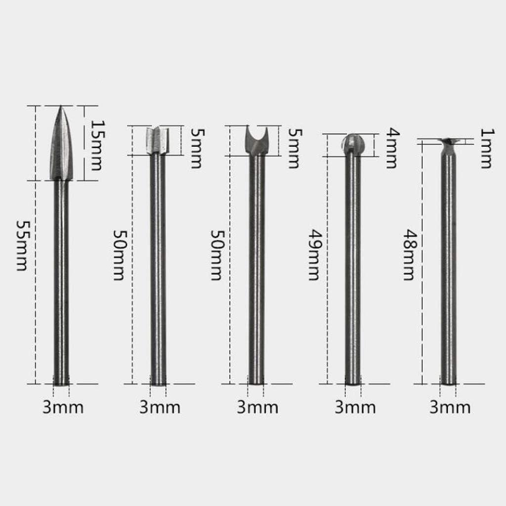 B Blesiya 5pcs Fraises /à d/éfoncer Lime Rotative Carbure Bavures Ensemble Bois 3x8mm