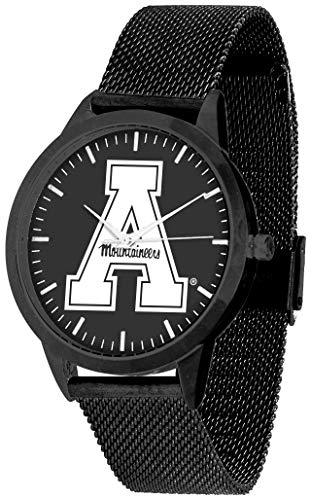 (Appalachian State Mountaineers - Mesh Statement Watch - Black Band - Black)