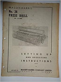 Massey Ferguson Tractor Manuals & Publications Ferguson 35 Instruction Book ................................. Original Manual