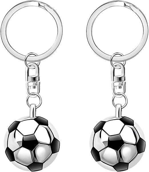 STOBOK 12 piezas de semicírculo de fútbol colgante llavero pelota ...