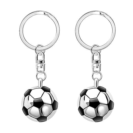 STOBOK 12 piezas de semicírculo de fútbol colgante llavero ...