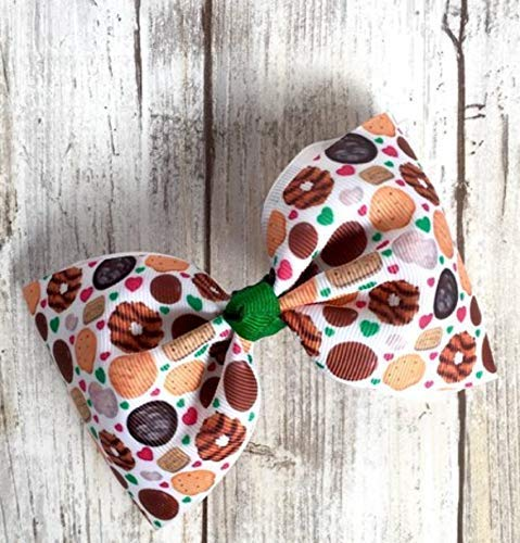 Girl Scout hair bows, cookie time hair bows, thin mints hair bow, brownie scouts, girl scout ()