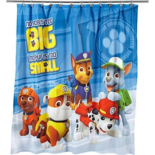 (Nickelodeon Paw Patrol Rescue Crew Fabric Shower Curtain)