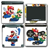 Super Mario Bros Boomerang Squirrel Acorn Cat Suit Video Game Vinyl Decal Skin Sticker Cover for Nintendo GBA SP Gameboy Advance System