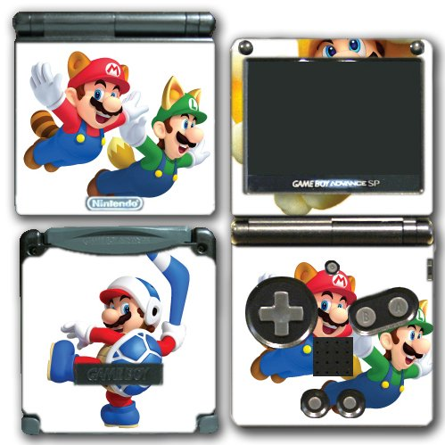Super Mario Bros Boomerang Squirrel Acorn Cat Suit Video Game Vinyl Decal Skin Sticker Cover for Nintendo GBA SP Gameboy Advance System (Game Boy Psp)
