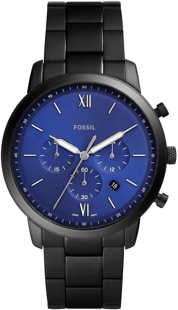 Fossil - Reloj para Hombre con Movimiento de Cuarzo analógico, Acero Negro 316 L - FS5698