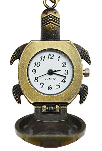 Meta-U Retro Style Brass Pocket Watch- Delicate Necklace for People Who Pursue Fashion