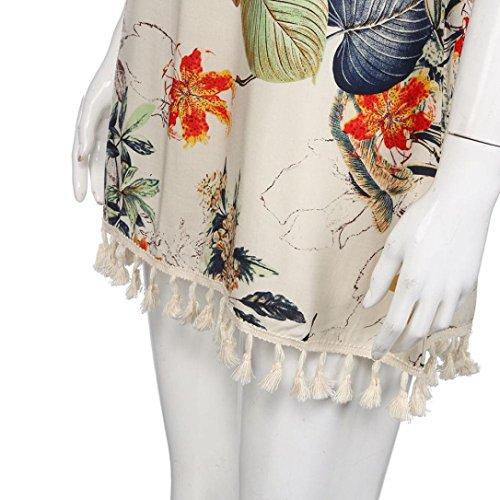Igemy Frauen Sommer Boho Printing Tassel Kleid Casual Beach Kleid ...