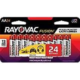 RAYOVAC AA 24-Pack FUSION Advanced Alkaline Batteries, 815-24LTFUSJ