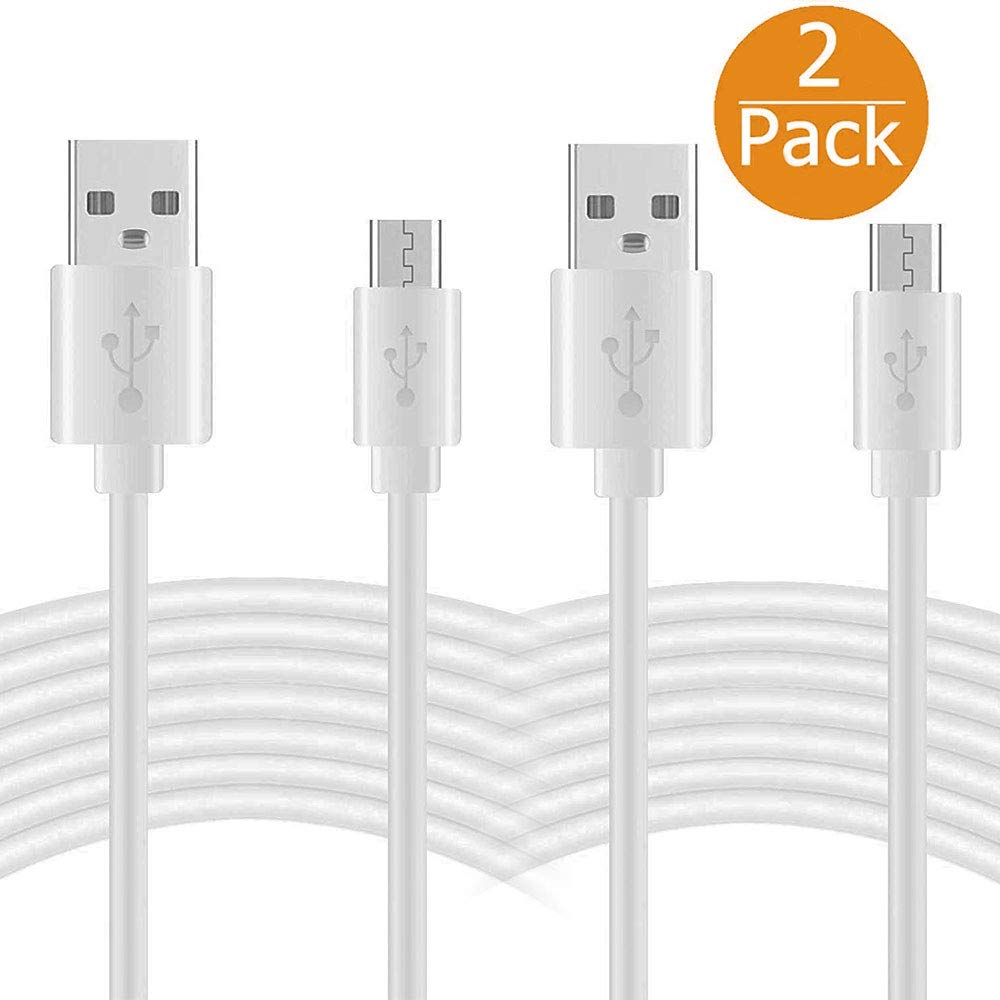 EEEKit 2-Pack 22FT Micro USB Extension Power Cable for WyzeCam/Wyze Cam Pan/Yi Cam/Net Cam/Netvue Cam/Arlo Q/Dropcam/Furbo Dog/Blink/Amazon Cloud Cam,Durable Charging and Data Sync Cord