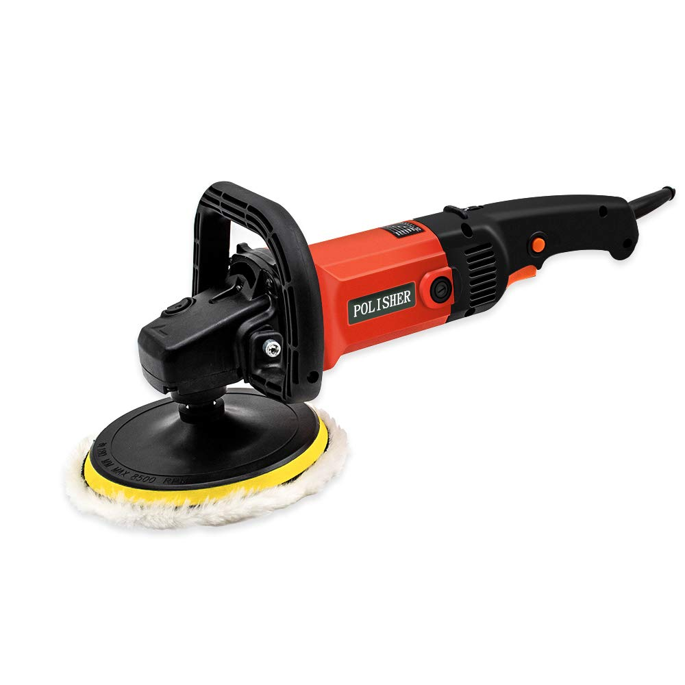Motionx Electric Car Polisher Detachable D Shape Handle,6 Variable Speed Buffer Waxer Sander Detail Polisher-Ideal for Polishing Home Appliance Furniture