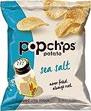 Popchips Potato Chips, Sea Salt Flavor, 0.8oz (Pack of 24)
