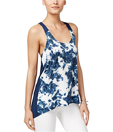 Calvin Klein Jeans Women's Printed Mixed Media Tank, River, X-Large