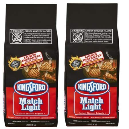 PACK OF 6 - Kingsford Match Light Charcoal Briquettes, 6.2 lbs by Kingsford