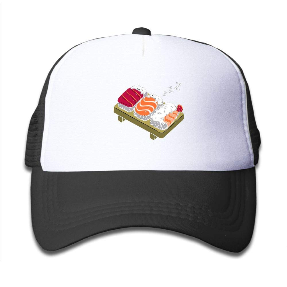 74d7c53009c32 Amazon.com  Lead-do Boys Girls Sleeping Sushi Mesh Cap Cute Kids Trucker  Hats Adjustable  Clothing