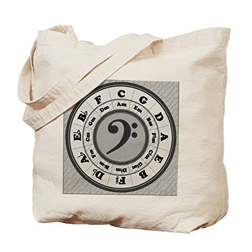 CafePress–diseño de clave Circle of quintas partes–Gamuza de bolsa de lona bolsa, bolsa de la compra