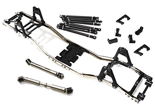 ups C27150BLACK Alloy Ladder Frame Chassis Kit w/ Hop-up Combo for SCX-10, Dingo, Honcho & Jeep (Combo Chassis)