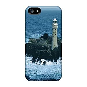 Slim Fit PC Protector Shock Absorbent Bumper Fastnet Rock Lighthouse Cork Ireland For Case Samsung Galaxy S5 Cover