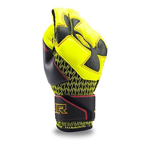 Under Armour Men's Desafio Pro Soccer Gloves, High-Vis Yellow/Black, 10 ()