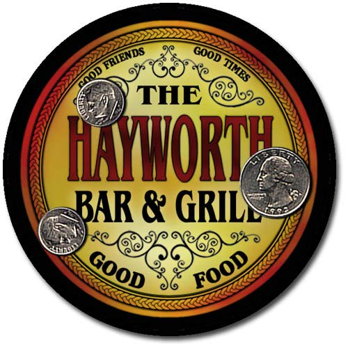 Hayworth Accent - Hayworth Family Bar and Grill Patriotic Rubber Drink Coaster Set