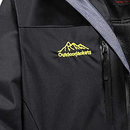 Sport vpass Hoodie Black Overcoat Trench Pocket Spring Assault Autumn Cardigan Loose Waterproof Zipper Women's with Outdoor Coat Fleece Jacket Windproof nzw7n