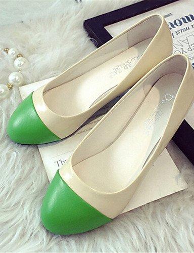 us5 Mujer Pdx Sinttica Uk3 verde Eu36 5 de naranja Al Pisos Piel Plano 5 Aire Amarillo Zapatos Libre Yellow De Cn35 Taln Comodidad casual rUtUw