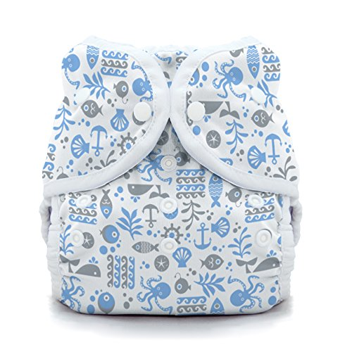 Thirsties Cloth Diapers (Thirsties Duo Wrap Cloth Diaper Cover - Ocean Life - Size 2 - Snap)