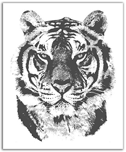 JP London POS2324 uStrip Peel and Stick Removable Wall Decal Sticker Mural African Tiger Sketch Retro, 19.75-Inch by 24-Inch - London Tigers
