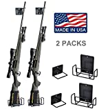 #6: Pack of 2 Safety Solutions Gun Accessories Mount Anywhere Single Shotgun Rifle Vinyl Coated Metal Gun Rack (Hand made in USA) (Rifle Rack x2)