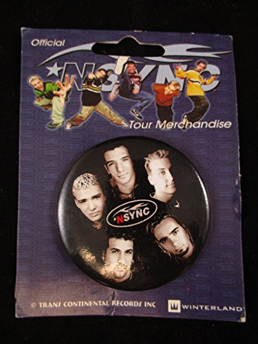 Nsync Official Tour Merchandise Button Pin Winterland NOS (Var2)