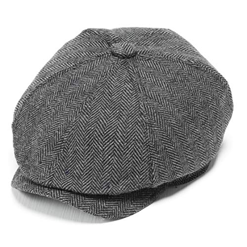 BABEYOND Newsboy Hat Cap for Men Women Gatsby Hat for Men 1920s Mens Gatsby Costume Accessories (Gray) ()
